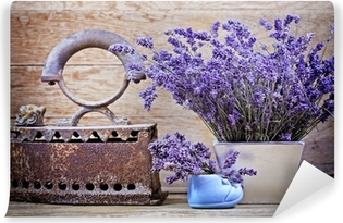 Dry lavender and rustic (rusty) iron - vintage style Vinyl Wall Mural