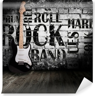 electric guitar in the room Vinyl Wall Mural