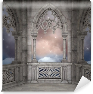 Elven palace background Vinyl Wall Mural