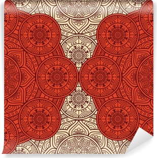 Ethnic floral seamless pattern Vinyl Wall Mural