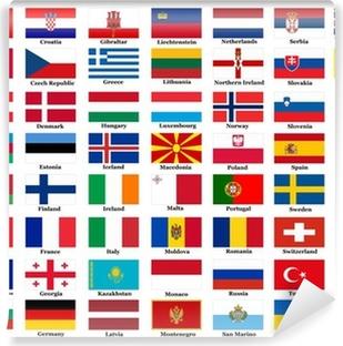European country flags Vinyl Wall Mural