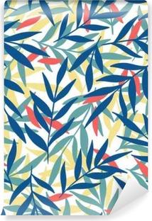 Exotic leaves, rainforest. Vinyl Wall Mural