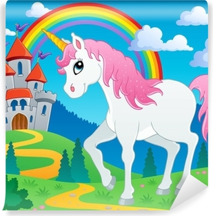 Fairy Tale Unicorn Theme Image 2 Vinyl Wall Mural