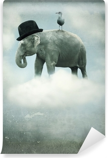 Fantasy elephant flying Vinyl Wall Mural