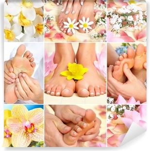 feet massage Vinyl Wall Mural