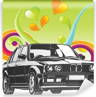 Fine Art BMW car Vinyl Wall Mural