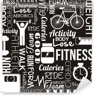 fitness vector Vinyl Wall Mural