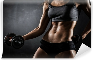 Fitness with dumbbells Vinyl Wall Mural
