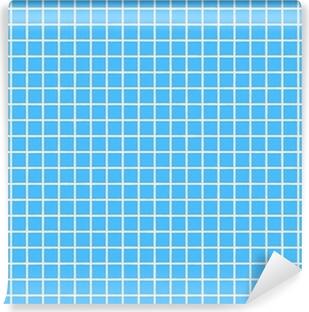 fliesen hellblau tile light blue Vinyl Wall Mural
