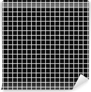 Fliesen Schwarz Tile Black Vinyl Wall Mural