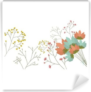 Flowers icon. Decoration rustic garden floral nature plant and spring theme. Isolated design. Vector illustration Vinyl Wall Mural