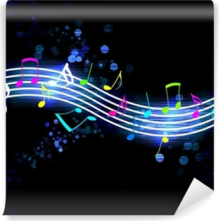 Flowing Music Notes Vinyl Wall Mural