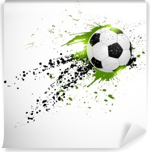 Flying soccer ball Vinyl Wall Mural
