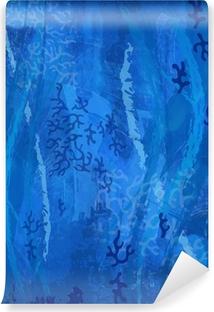 Fond Bleu Sous La Mer Motif Corail Plongee Sous Marine Sticker