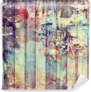 Fond planches de bois vintage Vinyl Wall Mural