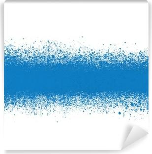 Fondo Abstracto, Salpicaduras Pintura Azul Vinyl Wall Mural