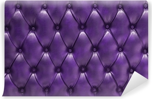 Fondo de tapizado morado en cuero natural acolchado Vinyl Wall Mural