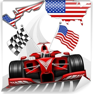Formula 1 Race Car GP Austin USA Vinyl Wall Mural