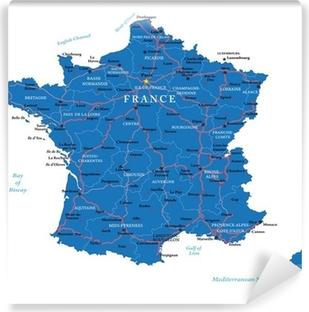 France map Vinyl Wall Mural