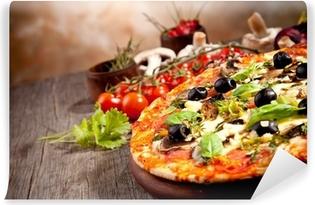 Fresh italian pizza Vinyl Wall Mural