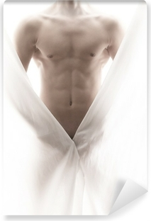 front of a partly nude male body Vinyl Wall Mural