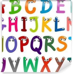 Funny Capital Letters Alphabet Vinyl Wall Mural