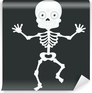 Funny Skeleton Bones Smiling Cartoon Skull Decor Wall Vinyl Sticker ed421