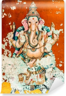 Ganesh ancient fresco Vinyl Wall Mural