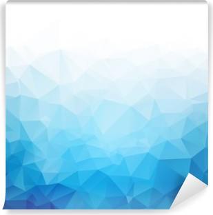Geometric blue ice texture background Vinyl Wall Mural