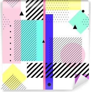 Geometric elements memphis Vinyl Wall Mural
