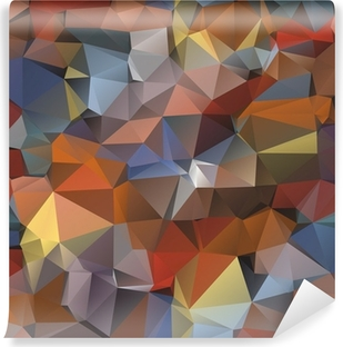 Geometric pattern, triangles background. Vinyl Wall Mural