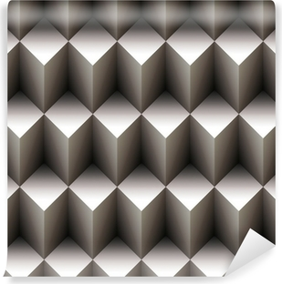 Geometric seamless pattern made of stacked cubes Vinyl Wall Mural
