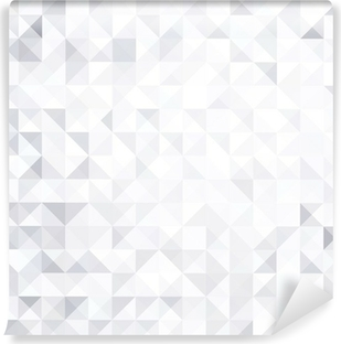 geometric style abstract white & grey background Vinyl Wall Mural