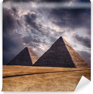 Giza pyramids in Cairo Egypt Vinyl Wall Mural