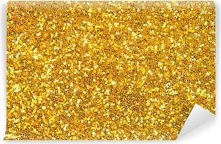 golden glitter background Vinyl Wall Mural