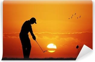 golf at sunset Vinyl Wall Mural
