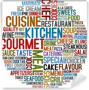 gourmet and cuisine Vinyl Wall Mural