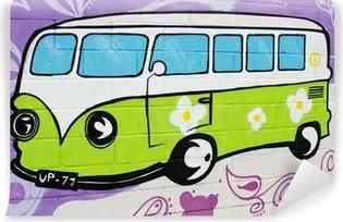 Graffiti bus hippy. Vinyl Wall Mural