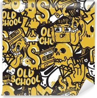 Graffiti Seamless Pattern Vinyl Wall Mural