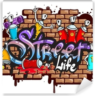 Graffiti word characters composition Vinyl Wall Mural