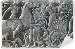 Greek ancient alike plaque at Great Alexander monument at Thessa Vinyl Wall Mural
