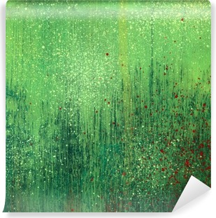 Green acrylic paint background texture paper Vinyl Wall Mural