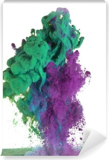 Green and purple paint Vinyl Wall Mural