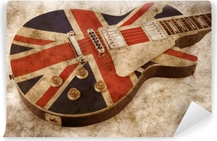 grunge brit pop guitar Vinyl Wall Mural