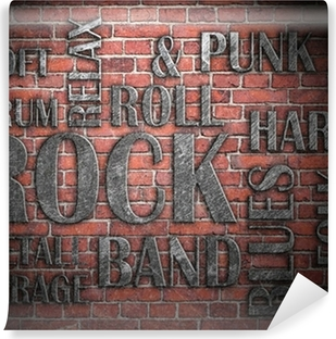 Grunge rock music poster Vinyl Wall Mural