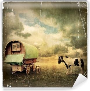 Gypsy Wagon, Caravan Vinyl Wall Mural
