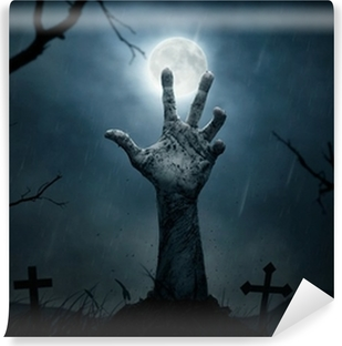 Halloween, dead hand coming out from the soil Vinyl Wall Mural
