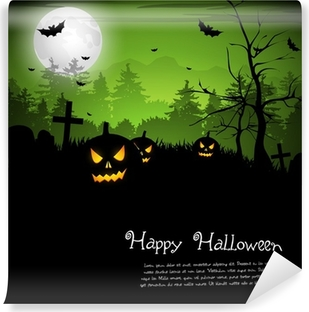 Scary house Halloween background Wall Mural Pixers We live to