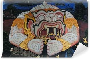 Hanuman in Ramayana Story at Bangkok, Thailand Poster