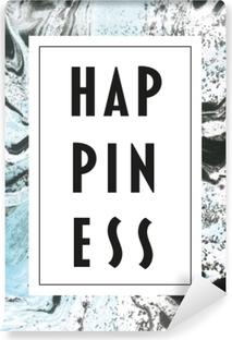 Happiness Vinyl Wall Mural
